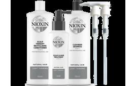 Ниоксин набор Система 1 (большой с дозаторами) (шампунь 1000 ml.+кондиционер 1000 ml.+маска 100 ml. +2 дозатора)