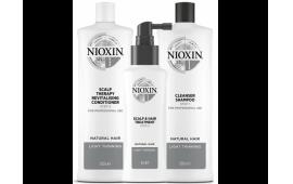Ниоксин набор Система 1 большой (шампунь 1000 ml.+кондиционер 1000 ml.+маска 100 ml.)